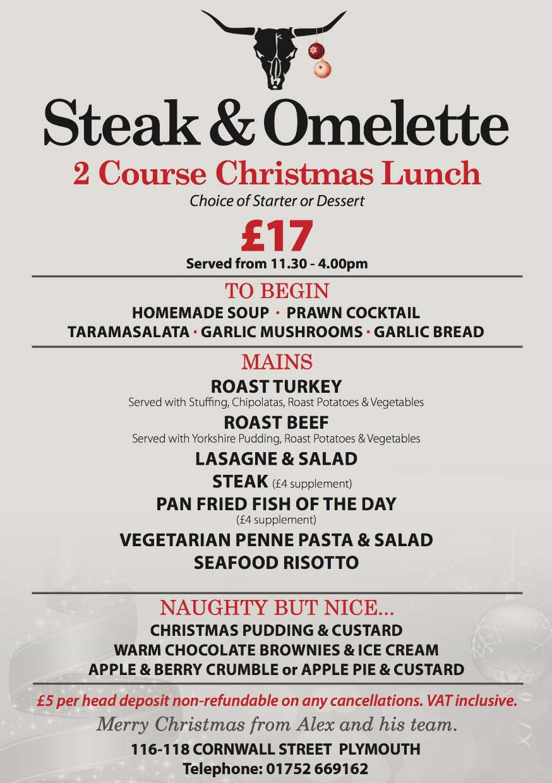 Menus Steak And Omelette